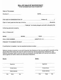 Watercraft Bill Of Sale Download Free Tennessee Watercraft Bill Of Sale Form Form