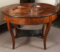 an english 1820s burl wood tray top side table or coffee table with tapered legs