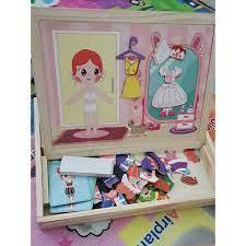 Đồ chơi trẻ em ghép hình nhà thiết kế thời trang cho bé gái - trò chơi giáo  dục phát triển trí não cho bé