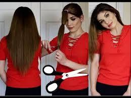 كيف تقصين شعرك مدرج في المنزل بطريقة جدا سهلة