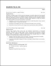 Examples Of Nursing Resume Examples Of Resumes