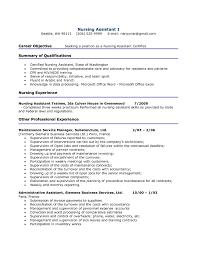 Cna Resumes Sample Resume Hospital Nursing Assistant Job Objective