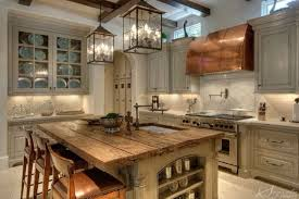country lighting for kitchen. Wrought Iron Pendants Creating A Focal Point In French Country Kitchen. Lighting For Kitchen C