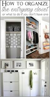 lots of tips to help you organize the entryway closet in 30 minutes or less
