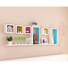 living room wall shelves wooden