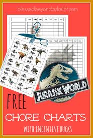 Free Jurassic World Chore Charts With Incentive Bucks