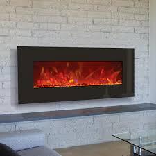 amantii advanced series 43 inch wall mount built in electric fireplace black glass wm bi 43 gas log guys