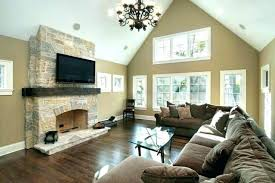 medium size of family room chandelier height for antique cozy ideas with stone fireplace and beige