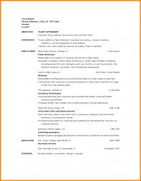 Flight Attendant Resume No Experience Resumes Sample Prior Objective