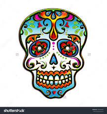 Mexican Sugar Skull Day Of The