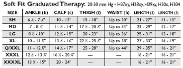 Activa Compression Socks Size Chart Activa Size Guide