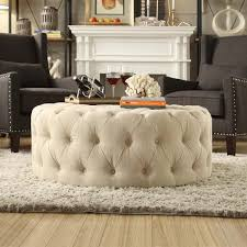 Signal Hills Knightsbridge Round Tufted Cocktail Ottoman with Casters  ($370)  liked on Polyvore