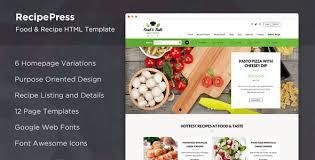 Food Recipe Template Recipepress Food Recipes Premium Html Template By Majesticthemes