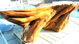 tree trunk dining table tree trunk table base beautiful teak dining natural co pertaining to 0
