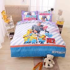 cartoon mermaid bedding set for kid girl gift 4pcs minions bed linen duvet cover bed sheet pillowcase twin full queen size