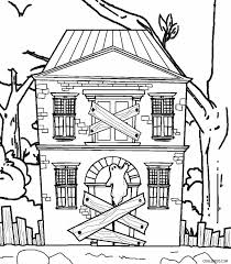 Small Picture Creepy Haunted House In Houses Coloring Page Color Luna Coloring