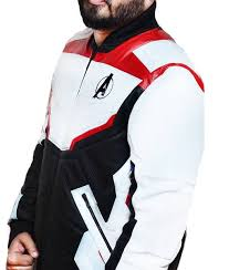 The Realm Wetsuit Size Chart Avengers Endgame White Quantum Realm Leather Jacket