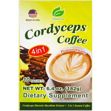 Longreen Corporation, <b>4</b> in 1 <b>Cordyceps Coffee</b>, 10 Sachets, 6.4 oz ...