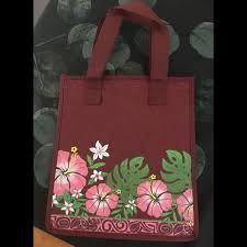 hawaii handbags hawaiian tropical print collapsible insulated bag