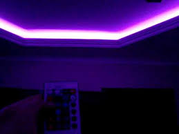 Led Light Strips For Room Interesting RGB LED LIGHT STRIP INSTALED ON THE CEILING FROM MY LIVING ROOM