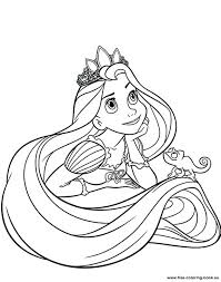 free print coloring pages disney coloring pages tangled page 1 printable free disney princess colouring pages