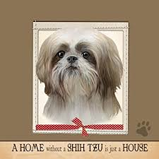 e s pets ultra soft 16x 16 shih tzu gift pillow