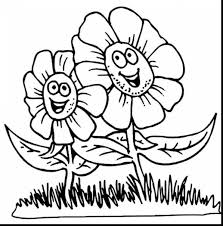 Printable Spring Flower Coloring Pages Bloodbrothers Free Coloring