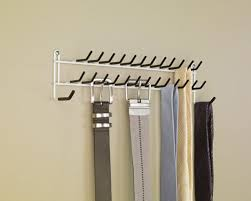 tie belt hanger rack necktie holder closet organizer scarf shelf door wall mount