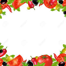 Vegetable Border Design Vegetable Clipart Border