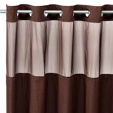 bathroom curtains and shower curtain sets. hookless® waffle chocolate 71 w x 74 l fabric shower curtain and liner set bed bath beyond bathroom curtains sets