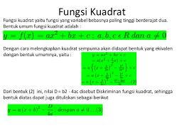 Soal Ulangan Harian Fungsi Kuadrat Matematika SMA/MA Kelas X Kurikulum 2013 dan Pembahasannya