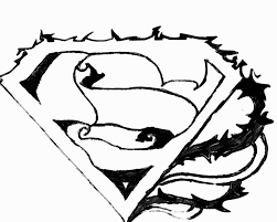 Superman Logo Coloring Page H M Coloring Pages Clip Art Library