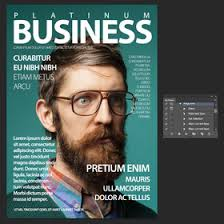 photoshop magazine cover template. Magazine cover Photoshop Action template and mockup Freelancer
