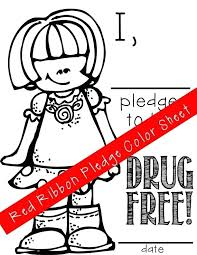 Red Ribbon Color Pages Drug Free Coloring Pages Drug Free Coloring Sheets Red