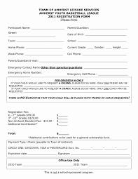 Auction Registration Form Template Program Registration Form Template Inspirational Silent Auction