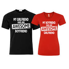 Boyfriend Girlfriend Shirt Designs Awesome Boyfriend Girlfriend Couple Matching T Shirts Funny Love Gift Shirts Funny Free Shipping Unisex Casual