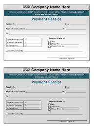 Payment Receipt Template Microsoft Word Templates