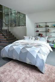 graphic duvet covers pastel duvet cover has a graphic facets pattern in grey blue and soft graphic duvet covers
