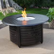 Red Ember San Miguel Cast Aluminum 48 in. Round Gas Fire Pit Chat Table    Hayneedle
