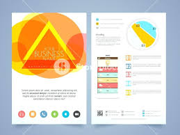 Two Page Brochure Template Creative Two Page Flyer Template Or Brochure Design For Your