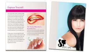 Flyer Template For Beauty Spa Hair Salon Order Custom Flyer