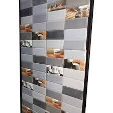 white grey ceramic printed kitchen wall tiles 8 10 mm