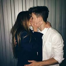 couple love and kiss image