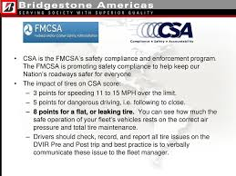 Csa Points Chart Meeting Agenda The Impact Of Tire Cost The Impact Of Tire