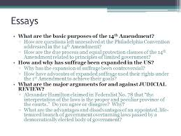 unit three lesson how has the right to vote been expanded since 14 essays what are the basic purposes of the 14th amendment