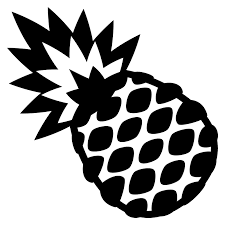 pineapple emoji png. emojione black white pineapple emoji png