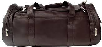 piel leather 9520 gym bag chocolate
