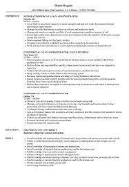Administrator Resume Examples Commercial Loan Administrator Resume Samples Velvet Jobs