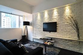 White Brick Wall Interior Design Old Interior With Brick White White Brick Wall Living Room