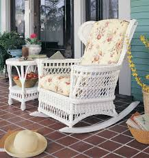 wicker rocking chair. Vintage Natural Wicker Rocking Chair WHITE Inside